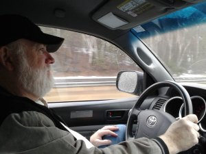 Scott driving